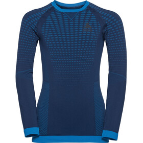 Odlo Performance Warm Top Manga Larga Cuello Barco Niños, estate blue/directoire blue